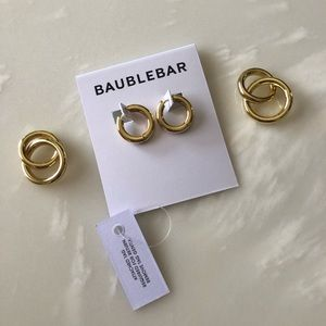 BaubleBar Stellar Link Drop Earrings - Brand New